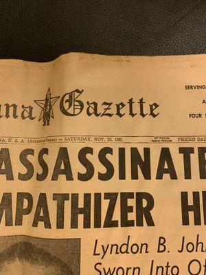 CONSPIRACY THEORIES???? JKF misprint newspaper for Sale in Lewisville, TX