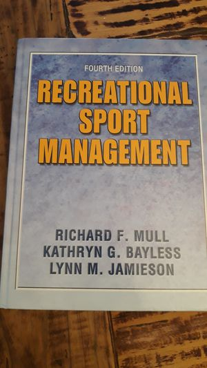 Recreational sport management 4th edition for Sale in Sachse, TX
