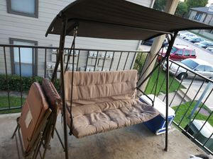 Patio chairs/patio swing/lawn chairs for Sale in Dallas, TX