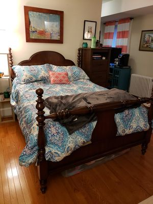 Full-size wood bed frame for Sale in Washington, DC