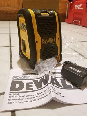 Dewalt Bluetooth Speaker 20V for Sale in Norwalk, CA
