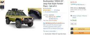 Jeep xj flat fenders for Sale in Miramar, FL