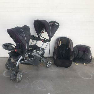 Baby Trend Sit N Stand Double Stroller Eddie Bauer Baby Car Seat And Liner for Sale in Tempe, AZ