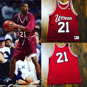 Rare Marcus Camby UMASS throwback Jersey champion sz M/L Yankees celtics Knicks nets nike jordan for Sale in Henderson, NV
