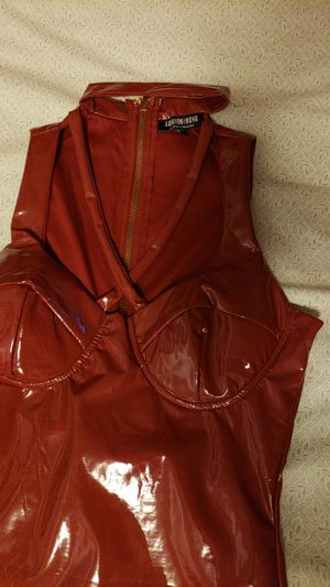 Synthetic leather fashion nova dress for Sale in Sanger, CA