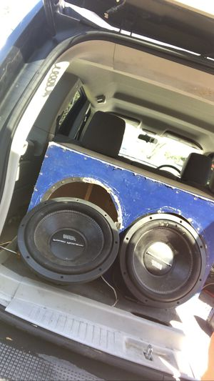 2 bamf 12s 3500 watts 1700 rms in custom ported box for Sale in Newport News, VA