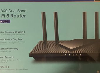 TP-Link WiFi 6 Router AX1800 Smart WiFi Router (Archer AX21) – Dual Band Gigabit Router, Works with Alexa - A Certified for Humans Device for Sale in Dallas,  TX