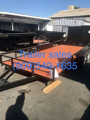 """New 8.5x16x1 utility trailer ( 82"""" deck fits all utv ) for Sale in Colton, CA"""