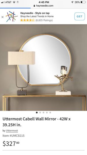 New in box Huge metallic gold Cabell wall mirror for Sale in Pataskala, OH