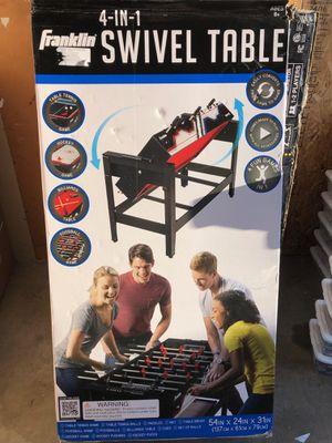 Franklin 4-in-1 Swivel Table Foosball, Billiards, Table Tennis, Hockey for Sale in Garden Grove, CA
