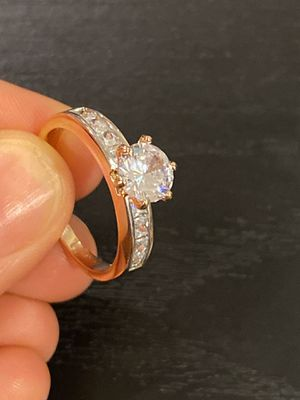 18K Gold plated Engagement/Promise Ring- Prince cut- SNG Diamond- Solitaire for Sale in Dallas, TX
