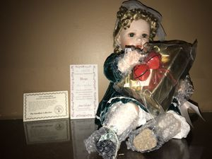Authentic new with certificate porcelain antique dolls for Sale in Lincolnia, VA