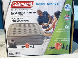 Queen Double High Air Mattress with External Pump for Sale in Henderson, NV