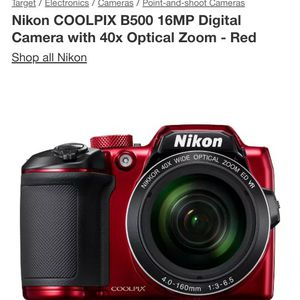 Nikon Coolpix B500 DIGITAL Camera for Sale in Bluffton, SC