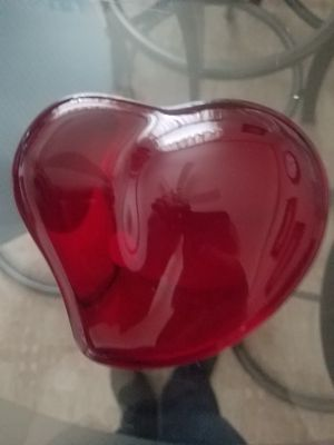 Tiffany&co red heart paperweight for Sale in Lincoln Park, MI