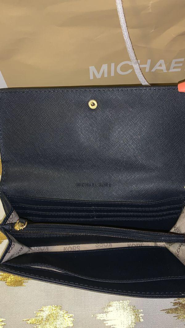 Michael Kors Purse & Wallet Navy Blue