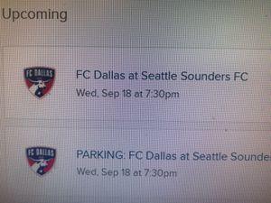 4 tickets Sounders vs FC Dallas. Club level. Midfield. Dry for Sale in Mercer Island, WA