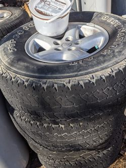 4 -15 Inch Alloy Jeep Wheels And Tires for Sale in Rustburg,  VA