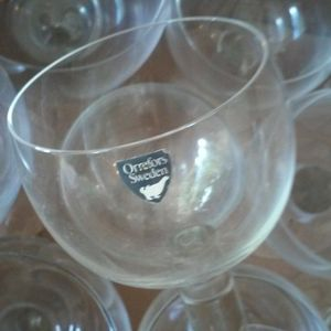 """12 Crystal 6oz 6""""high Glasses Made In Sweden for Sale in West Palm Beach, FL"""