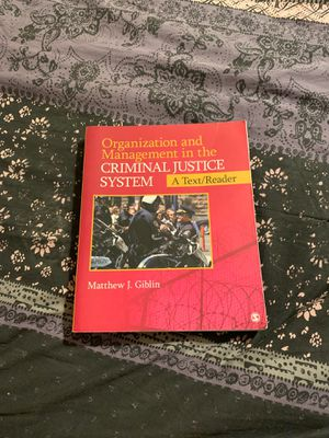 Organization & Management in the Criminal Justice System for Sale in Rancho Linch, MX