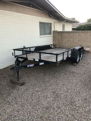 14 foot double axel work trailer for Sale in Mesa, AZ