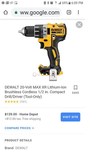 """Dewalt 20v xr brushless 1/2"""" compact drill ( tool only for Sale in San Jose, CA"""
