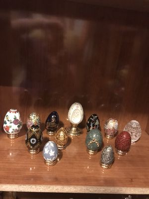 Franklin Mint collection of eggs for Sale in Port St. Lucie, FL