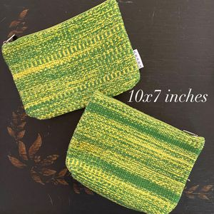 Pair of Heavy hand woven makeup bags for Sale in Phoenix, AZ