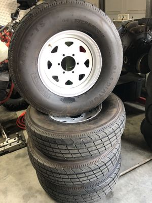 New take off trailer wheels and tires 6 lug for Sale in Hemet, CA