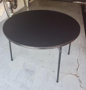 "4 Brand new 40"" diameter folding card table party wedding dinner. 60.00 each for Sale in Morton Grove, IL"