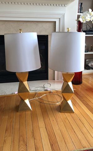 2 Table lamps new collection almost brand new for Sale in Alexandria, VA