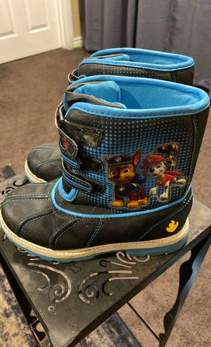 Paw Patrol Snow Rain Boots size kids / toddler 12 for Sale in Torrance, CA