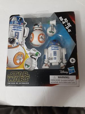 Star Wars Galaxy of Adventures R2-D2, BB-8, D-O 3-pack Toy Droid Figures for Sale in Miami, FL