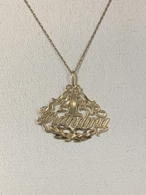"Ladies 14k YG ""Grandma"" Pendant w/10k YG 16"" Necklace for Sale in Marietta, GA"