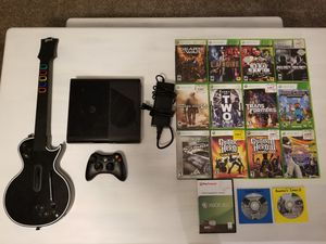 XBox 360, Controller, Guitar and Games for Sale in Dinuba, CA