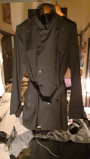 Mens michael kors black trench for Sale in New York, NY