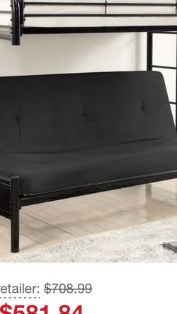 Black Metal futon bunk bed for Sale in Dublin,  OH