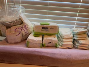 Diapers size 3&4 and wipes for Sale in Franklin, TN