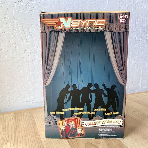 """Living Toyz Nsync Justin Timberlake 10"""" Collectable Marionette Figure Doll Toy"""