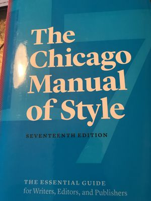 The Chicago Manual of Style 17 edition for Sale in Woodbridge, VA