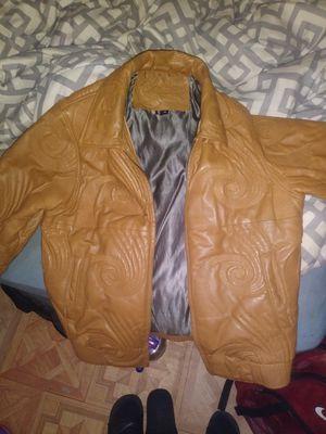 Vilanto leather coat for Sale in Detroit, MI