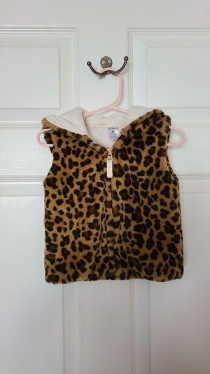 Carter's fuzzy leopard print vest 2T for Sale in Downey, CA
