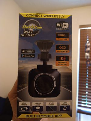 Dashcam pro WiFi Deluxe. As seen on TV. HD. Audio. Motion detection. Built-in app. for Sale in Rowlett, TX