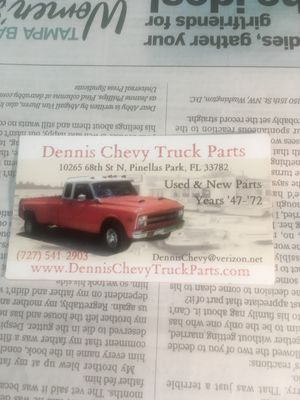Chevy truck parts for Sale in Largo, FL