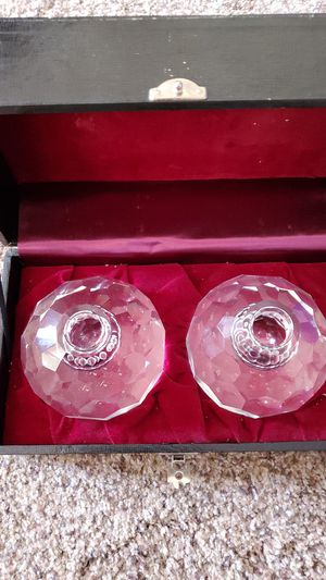 Vintage Post House leaded crystal candle holders for Sale in Little Chute, WI