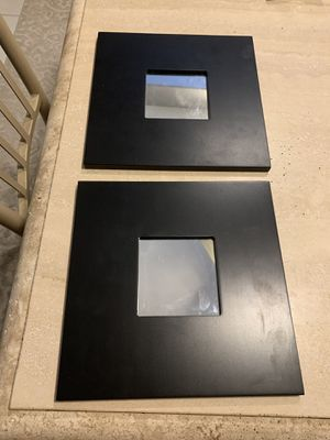 10x10black framed decor wall mirrors for Sale in Henderson, NV