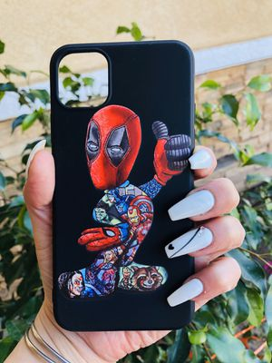 Brand new cool iphone 11 PRO MAX case cover phone case rubber deadpool mens guys hypebeast hypebae womens girls hype swag for Sale in San Bernardino, CA