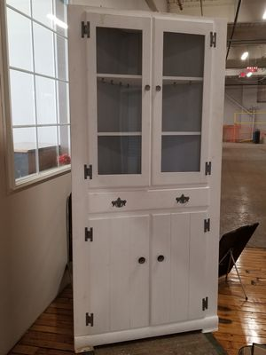 Wonderful white corner cabinet for Sale in Easthampton, MA