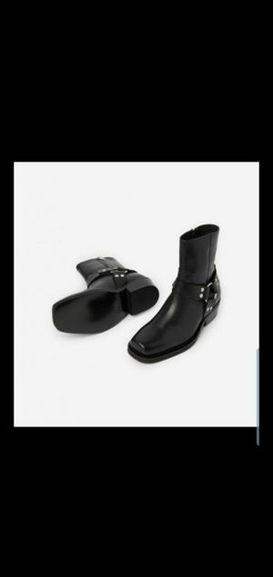 Men's Leather Boots with Buckle size 42 for Sale in Alexandria, VA