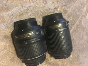Nikon 18-200mm Total VR SET lenses NIKKOR AF~S 18-55mm & 55~200mm both are DX SWM VR ED IF for Sale in Everett, WA